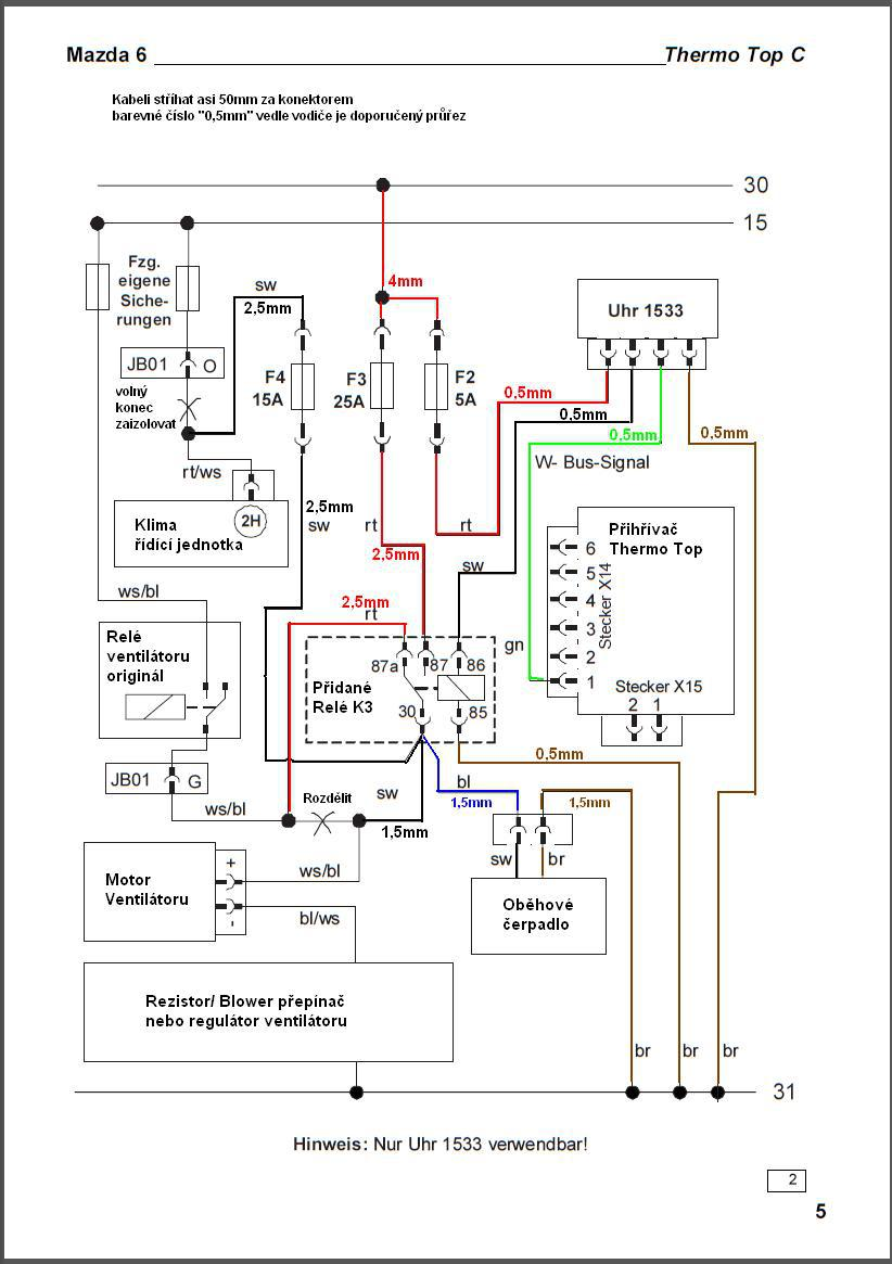 webasto wiring diagram thermo top c